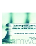 Dealing with Difficult People in the Workplace phần 1