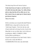 Thủ thuật trong Microsoft Internet Explorer