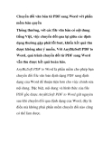 Cách chuyển đổi văn bản từ PDF sang Word với phần mềm bản quyền