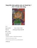 Sáng kiến kinh nghiệm môn mỹ thuật lớp 3 – bài vẽ tranh chân dung