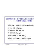 Công nghệ sản xuất các chất vô cơ (ThS. Nguyễn Văn Hòa) - Chương 3. Bài 1