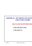 Công nghệ sản xuất các chất vô cơ (ThS. Nguyễn Văn Hòa) - Chương 3. Bài 3