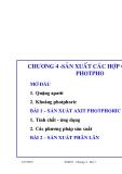 Công nghệ sản xuất các chất vô cơ (ThS. Nguyễn Văn Hòa) - Chương 4. Bài 1