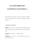CÁC HÀM THỐNG KÊ STATISTICAL FUNCTIONS (1)