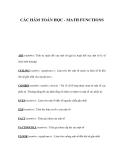 CÁC HÀM TOÁN HỌC - MATH FUNCTIONS
