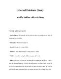 External Database Query: nhiều tables với relations