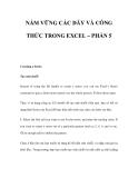 NẮM VỮNG CÁC DÃY VÀ CÔNG THỨC TRONG EXCEL – PHẦN 5