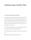 Hướng dẫn sử dụng Crystal Ball – Phần 8