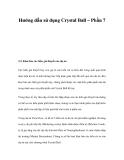 Hướng dẫn sử dụng Crystal Ball – Phần 7