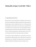 Hướng dẫn sử dụng Crystal Ball – Phần 6