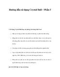 Hướng dẫn sử dụng Crystal Ball – Phần 5