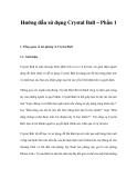 Hướng dẫn sử dụng Crystal Ball – Phần 1