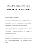 NẮM VỮNG CÁC DÃY VÀ CÔNG THỨC TRONG EXCEL – PHẦN 2