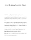 Hướng dẫn sử dụng Crystal Ball – Phần 11