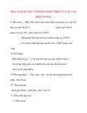 Giáo án Công Dân lớp 10: Bài:4 NGUỒN GỐC VẬN ĐỘNG PHÁP TRIỂN CỦA SỰ VẬT HIỆN TƯỢNG
