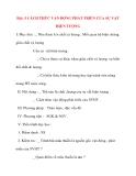 Giáo án Công Dân lớp 10: Bài: 5 CÁCH THỨC VẬN ĐỘNG PHÁT TRIỂN CỦA SỰ VẬT HIỆN TƯỢNG