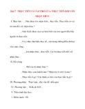 Giáo án Công Dân lớp 10: Bài:7 THỰC TIỄN VÀ VAI TRÒ CỦA THỰC TIỄN ĐỐI VỚI NHẬN THỨC