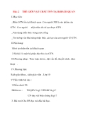 Giáo án Công Dân lớp 10: Bài: 2 THẾ GIỚI VẬT CHẤT TỒN TẠI KHÁCH QUAN