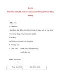 Giáo án Công Nghệ lớp 10: Bài 12: Đặc điểm, tính chất, kĩ thuật sử dụng một số loại phân bón thông thường