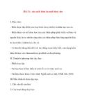 Giáo án Công Nghệ lớp 10: Bài 31 : Sản xuất thức ăn nuôi thuỷ sản