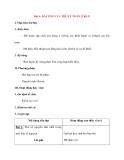 Giáo án Tin Học lớp 10: Bài 4: BÀI TOÁN VÀ THUẬT TOÁN (Tiết 5)