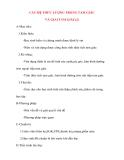 Giáo án Hình Học lớp 10: CÁC HỆ THỨC LƯỢNG TRONG TAM GIÁC VÀ GIẢI TAM GIÁC(2)