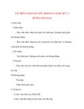 Giáo án Hình Học lớp 10: CÂU HỎI VÀ BÀI TẬP GÓC, KHOẢNG CÁCH GIỮA 2 ĐƯỜNG THẲNG(2)