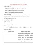 Giáo án Tin Học lớp 10: MẠNG THÔNG TIN TOÀN CẦU INTERNET