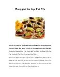 Phong phú ẩm thực Phú Yên