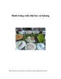 Bánh tráng cuốn thịt heo xứ Quảng
