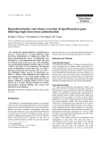"""Báo cáo khoa học: """"Disposition kinetics and urinary excretion of ciprofloxacin in goats following single intravenous administration"""""""