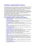 Tổng hợp các plugin tốt nhất cho Wordpress