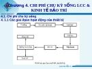 Chương 4. CHI PHÍ CHU KỲ SỐNG LCC & KINH TẾ BẢO TRÌ