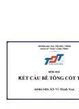 Bài giảng Kết cấu bê tông cốt thép (KS. Võ Thành Nam) - Chương 3