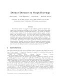 "Báo cáo toán học: ""Distinct Distances in Graph Drawings"""