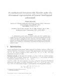 "Báo cáo toán học: ""A combinatorial derivation with Schr¨der paths of a o determinant representation of Laurent biorthogonal polynomials"""