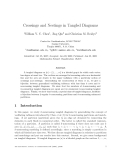 "Báo cáo toán học: ""Crossings and Nestings in Tangled Diagrams"""