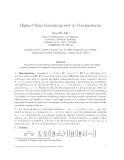 """Báo cáo toán học: """"Higher Chain Formula proved by Combinatorics"""""""