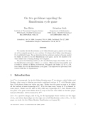 "Báo cáo toán học: ""On two problems regarding the Hamiltonian cycle game"""