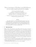 """Báo cáo toán học: """"Rate of convergence of the short cycle distribution in random regular graphs generated by pegging"""""""