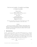 """Báo cáo toán học: """"On the total weight of weighted matchings of segment graphs"""""""