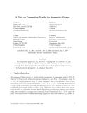 "Báo cáo toán học: ""A Note on Commuting Graphs for Symmetric Groups"""