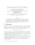 "Báo cáo toán học: ""The Laplacian Spread of Tricyclic Graphs"""