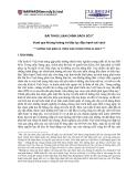 BÀI THẢO LUẬN CHÍNH SÁCH SỐ 21 Vượt qua khủng hoảng và tiếp tục đẩy mạnh cải cách