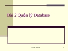 Quản lý Database