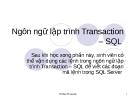 Lập trình trong SQL Server