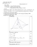 KIỂM TRA MỘT TIẾT - Môn Hình Học 12 NC