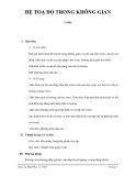 HỆ TOẠ ĐỘ TRONG KHÔNG GIAN(3 tiết)