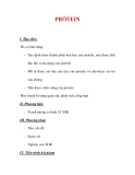 Giáo án Sinh học lớp 9 : Tên bài dạy : PRÔTEIN