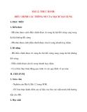 Giáo án Công Nghệ lớp 12: BÀI 12: THỰC HÀNH: ĐIỀU CHỈNH CÁC THÔNG SỐ CỦA MẠCH TẠO XUNG
